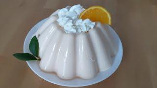 Delicia de naranja con queso 🍊🍊🍊🍊🍊 sin horno , solo 4 ingredientes!
