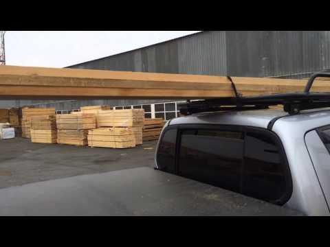 Автобагажник на крышу Mitsubishi L200. Перевозка досок 4 м.