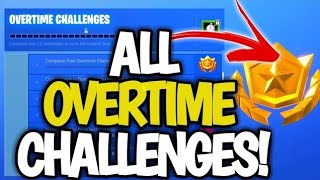 All OVERTIME Challenges LEAKED! (FREE SEASON 9 BATTLE PASS) Fortnite Overtime Guide!
