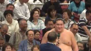 20150524 大相撲夏場所千秋楽 照ノ富士優勝 優勝力士インタビュー.