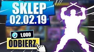 SKLEP FORTNITE 02.02.19 | *NOWA EMOTKA!* + Zestaw Futbolistów! Daily Item Shop 01.02