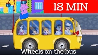 wheels on the bus go round and round song   nursery rhymes and kids songs compilation
