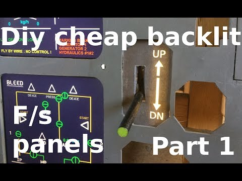 The best and cheapest way to make backlit flight sim panels! (landing gear panel build part 1)