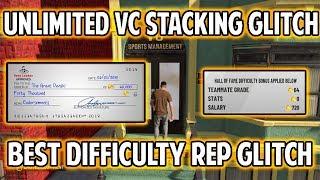 NBA 2K19 VC STACKING GLITCH AND DIFFICULTY REP GLITCH! GET BIGGER VC CHECKS!