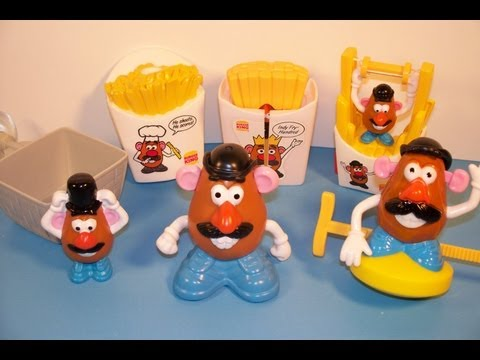 1998 MR. POTATO HEAD SET OF 5 BURGER KING KID'S MEAL TOY'S VIDEO REVIEW