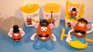 1998 MR. POTATO HEAD SET OF 5 BURGER KING KID