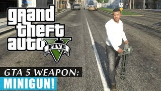 GTA 5: Minigun Location + Rampage gameplay!