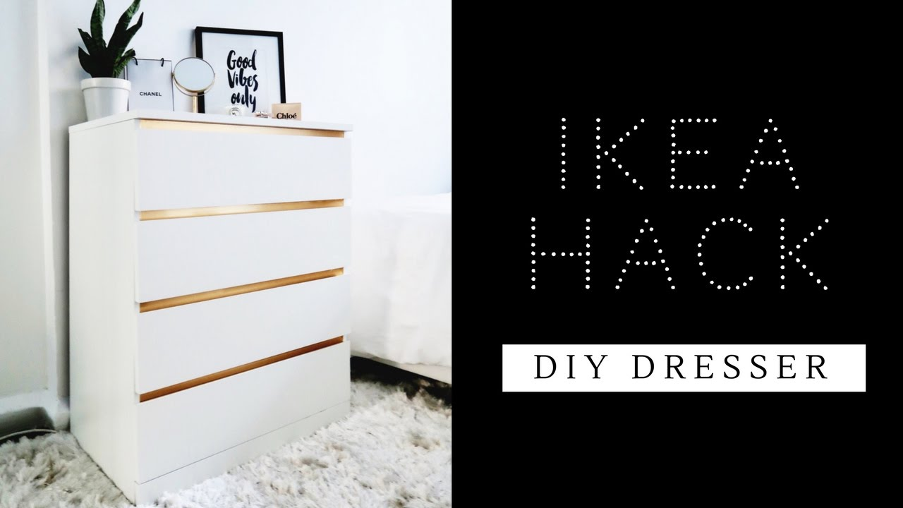 easiest ikea hack ever diy dresser malm dresser youtube. Black Bedroom Furniture Sets. Home Design Ideas