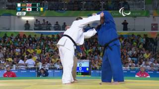 Judo | Great Britain v Japan | Men's +100 kg Quarterfinal | Rio 2016 Paralympic Games