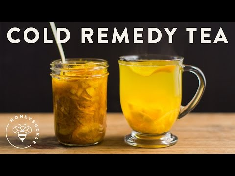 Cold Remedy Tea with Turmeric Ginger Honey Citrus - Honeysuckle