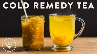 Cold Remedy Tea with Turmeric Ginger Honey Citrus | HONEYSUCKLE