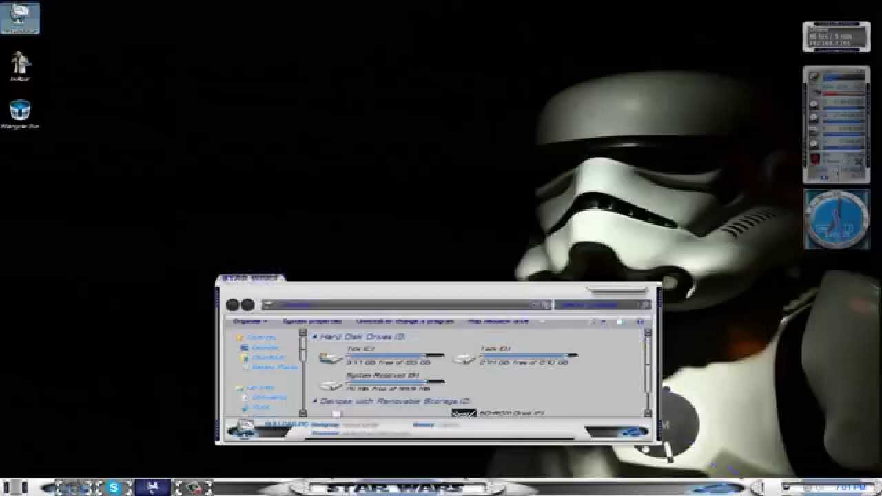 Connu Star Wars Windows 7 Theme - YouTube TS65