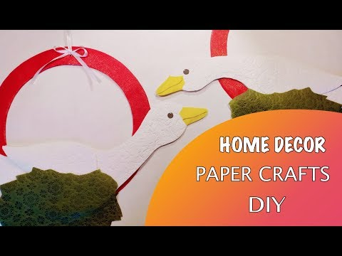 Home decor / Paper crafts / Geese / DIY