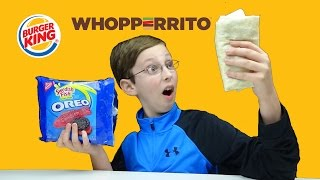 BURGER KING WHOPPERITO & OREO SWEDISH FISH COOKIES FOOD TASTE TEST REVIEW | COLLINTV