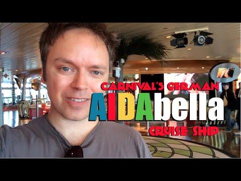 AIDAbella Cruise Ship Tour (Carnival's German Brand)