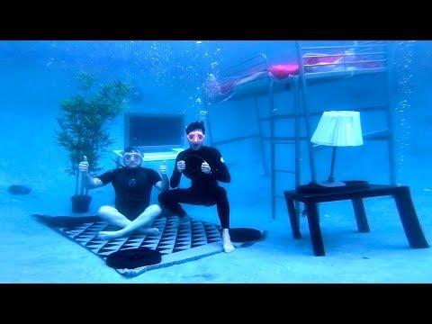 Building An Entire Bedroom Underwater