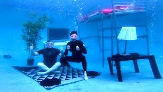 We Built An Entire Bedroom Underwater