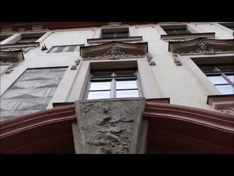 Prague house sign At St. John of Nepomuk  Nerudova Street  Lesser Town