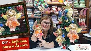 Aprenda Fazer Lindos Anjinhos Para Enfeites de Natal