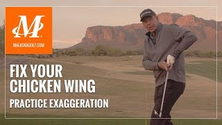 Malaska Golf // Fix Your Chicken Wing - Golf Tips for Common Swing Flaws