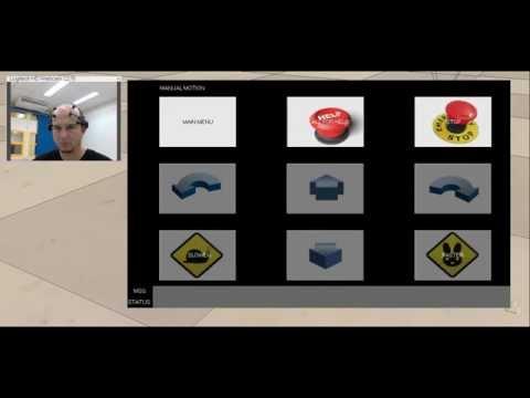 Emotiv EMG to navigate into menus to control a robot with line selection