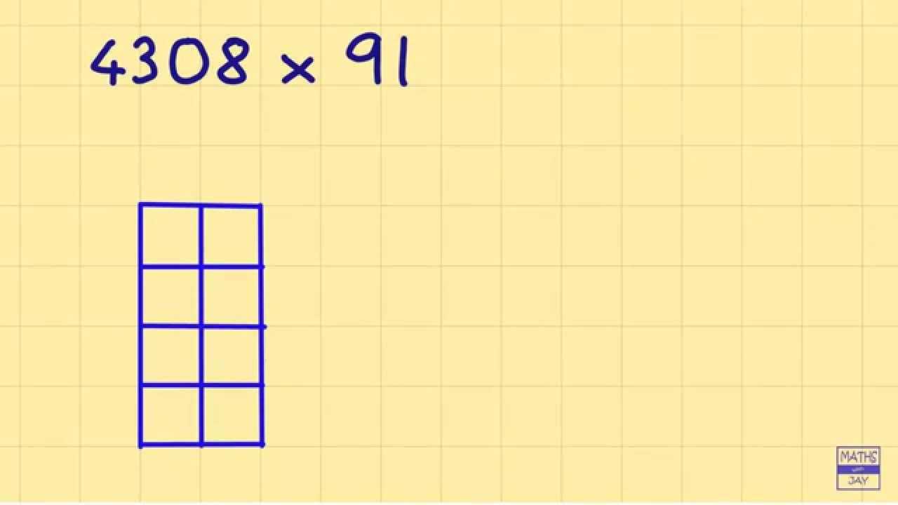 Lattice Multiplication: 4 digi...