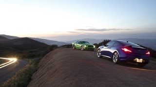 2013 Ford Mustang V6 vs. 2013 Hyundai Genesis Coupe | Track Tested | Edmunds.com