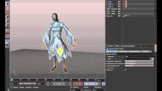 Вопрос о симуляции ткани в Cinema 4d