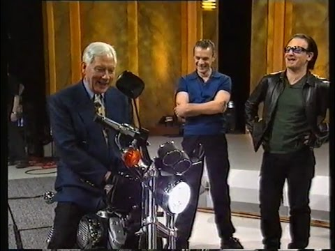 Larry & Bono on Gay Byrne's last Late Late Show 1999