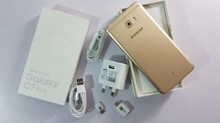 Samsung Galaxy C7 Pro Gold Unboxing [Urdu/Hindi]