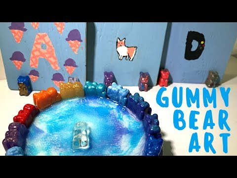 Gummy Bear and Resin Painting by Addy for her Birthday