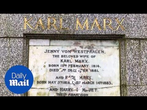 Karl Marx memorial in north London damaged in 'hammer attack'