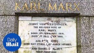 Karl Marx memorial in north London damaged in