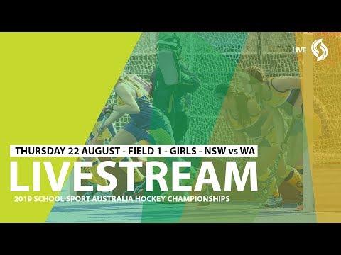 🔴 2019 SSA 12 & U Hockey - Thur 22 - Girls - NSW Vs WA - Field 1 - Game 4
