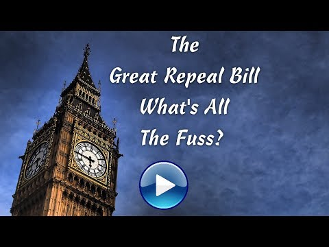 The Great Repeal Bill - What