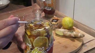 Kış aylarında içebilecegimiz Şifa gibi cok faydali (zencefil limon bal tarcin)Çay Tarifi