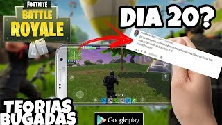 THEORY 😱 FORTNITE MOBILE ANDROID WILL ONLY LAUNCH DAY 20? READING REVIEWS WITH BUGADAS THEORIES #2