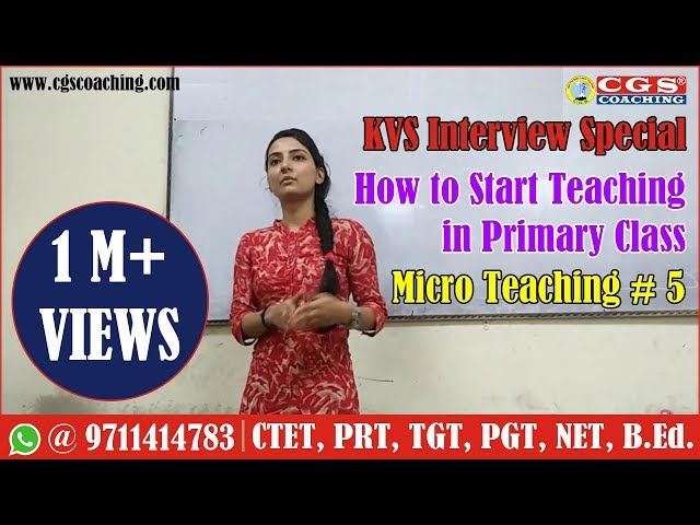 KVS Interview Special    How to start teaching in primary class    Micro Teaching # 5