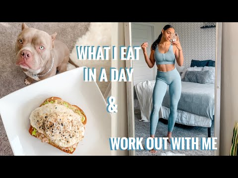 WHAT I EAT IN A DAY / WORKOUT WITH ME || how I film workouts | vlogmas day 3?? | Libby Christensen