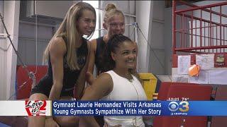 Love It: Gymnast Laurie Hernandez Visits Arkansas Young Gymnast