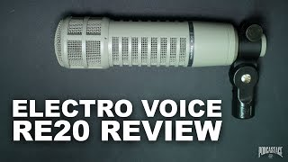 Electro Voice RE-20 Broadcast Dynamic Mic Review / Test