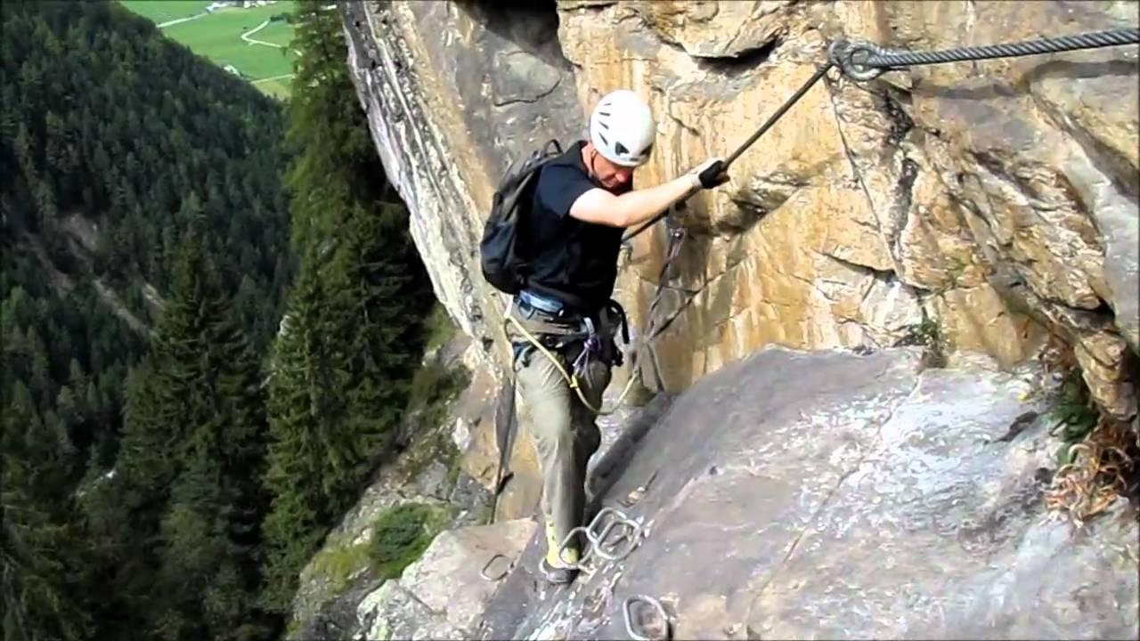 Klettersteig Oostenrijk : Klettersteig via ferrata stuibenfall oostenrijk youtube