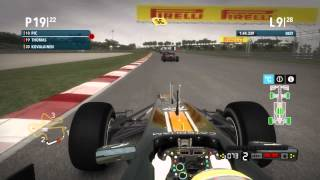 F1 2012 ★ Safety Car Deployed After AI Incident ★ Malaysia ★ Career Mode