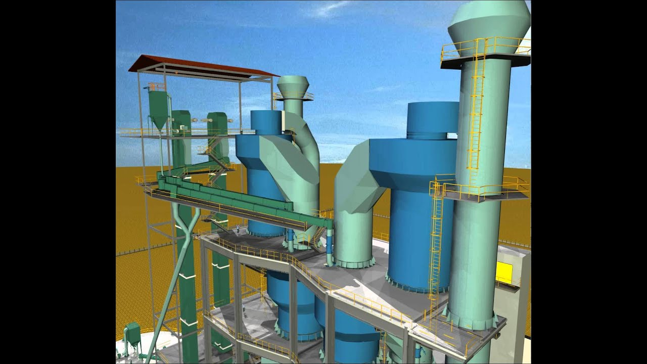 Cyclone Preheater Cement Plant 3d Model From Cgtrader