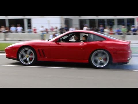 Ferrari 550 Maranello Burnout And Almost Crash - 2010 FCA Ottawa Demo Zone