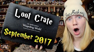 harry potter   jk rowlings wizarding world by loot crate unboxing   september 2017 thebakeey