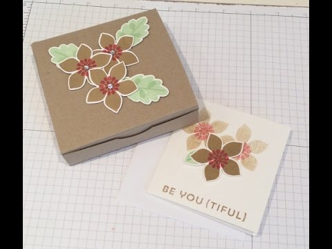 Stampin Up & ScanNCut Gift Cards, Envelopes & Box