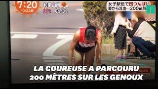 Elle se casse la jambe pendant un marathon...et le termine sur les genoux