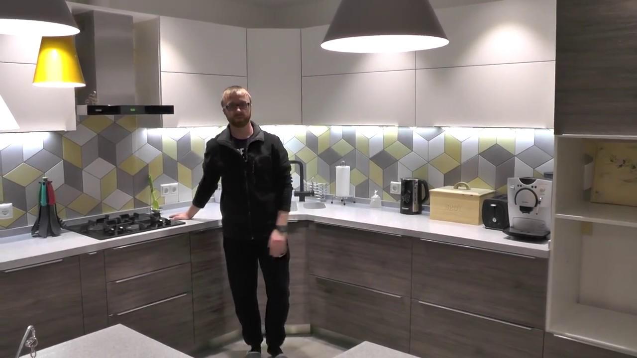 Кухня мдф покраска. Фурнитура блюм. Кухня на заказ Киев. - YouTube