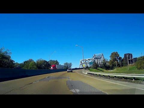 Road Trip #213 - I-55 N - Tennessee State Line to West Memphis, AR   Memphis & Arkansas Bridge
